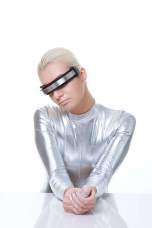 Beautiful cyber woman      photo