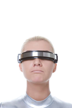 Sad cyber woman photo