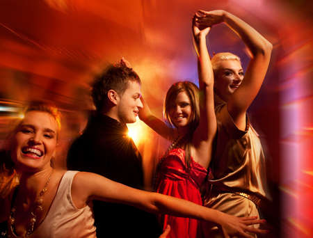 People dancing in the night club Stock Photo - 6052899