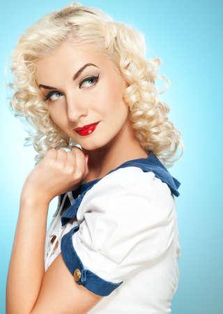 pin up vintage: Bella donna ritratto retr�