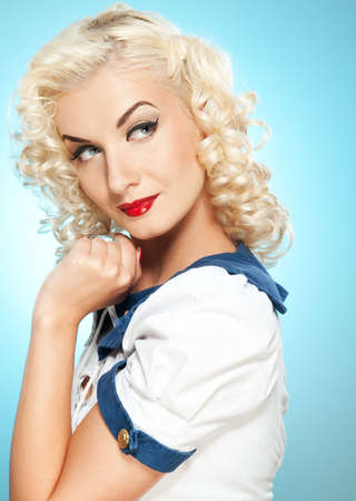 pin up: Lovely woman retro portrait