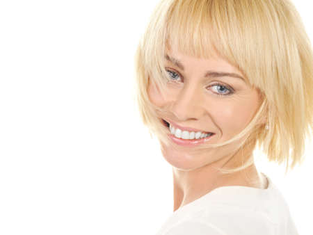 short haircut:  Beautiful blond woman
