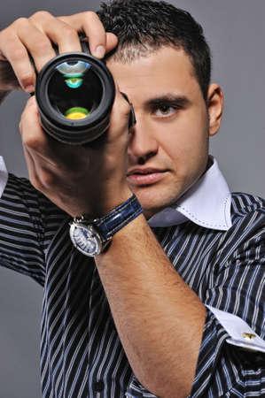 Photographer making a shot Stock Photo - 6724694