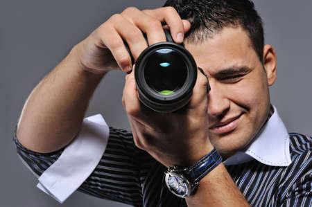 Photographer making a shot Stock Photo - 6724746
