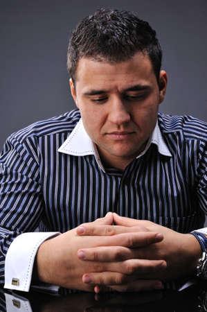 Portrait of a thinking man photo