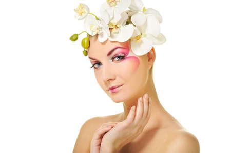 Beautiful woman with creative make-up Stock Photo - 6724583