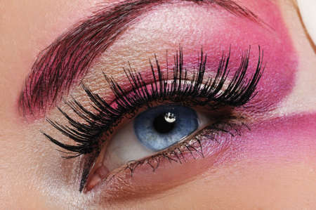 Make-up of a beautiful woman eye  photo