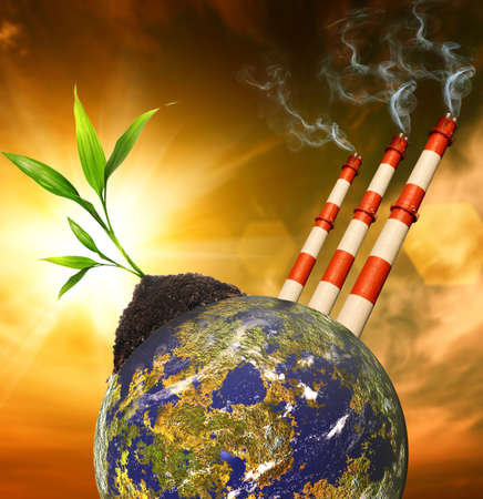save environment: Planet pollution