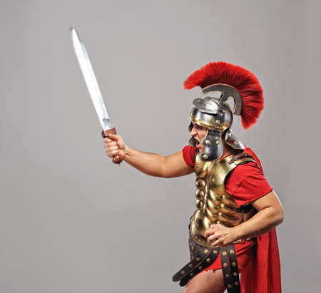 ready for war: Legionary soldier ready for a war