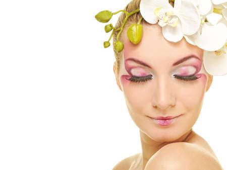 Beautiful woman with creative make-up Stock Photo - 6786878