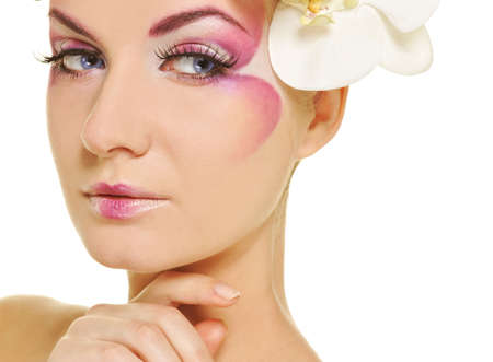 Beautiful woman with creative make-up   Stock Photo - 6786872
