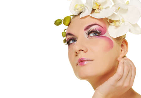 Beautiful woman with creative make-up Stock Photo - 6819170