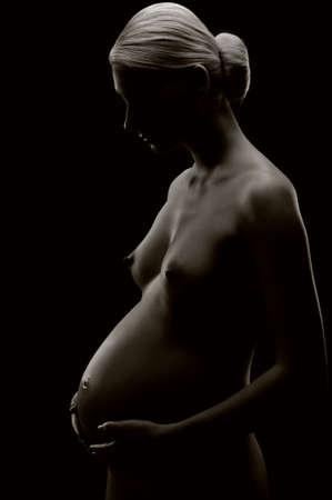 Monochrome picture of a pregnant woman Stock Photo - 6819171