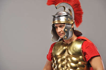 Portrait of a legionary soldier  photo