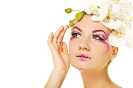 Beautiful woman with creative make-up Stock Photo - 6819255