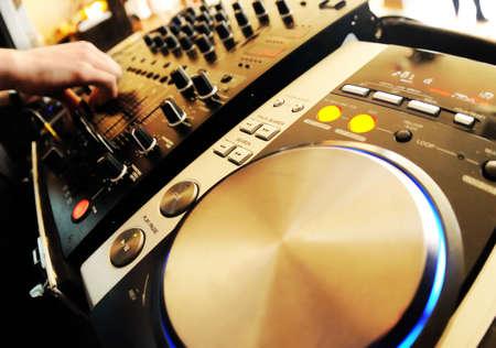 radio dj: Dj mixer Stock Photo