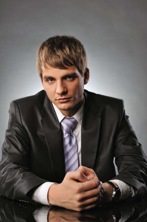 Serious young businessman   Stock Photo - 6881934
