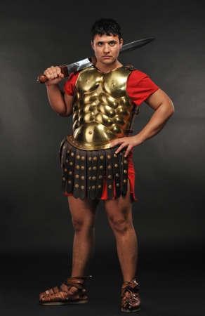 Roman legionary soldier photo