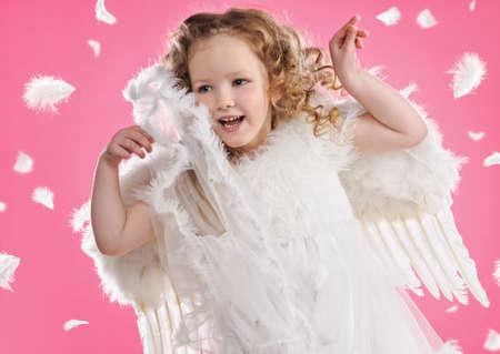 Beautiful little angel girl Stock Photo - 6882039