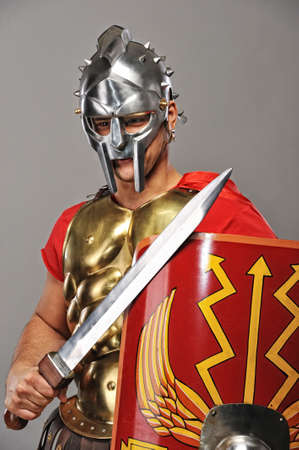 roman soldier: Legionary soldier ready for a war