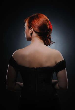 Attractive redhead woman photo