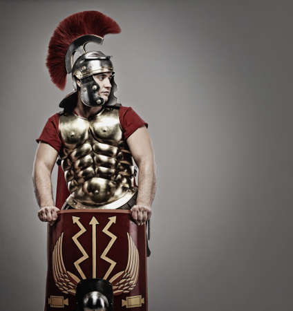 cascos romanos: Retrato de un soldado legionario