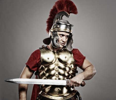 ready for war: Legionary soldier ready for a war