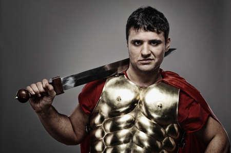 Handsome roman legionary soldier Stock Photo - 7125995