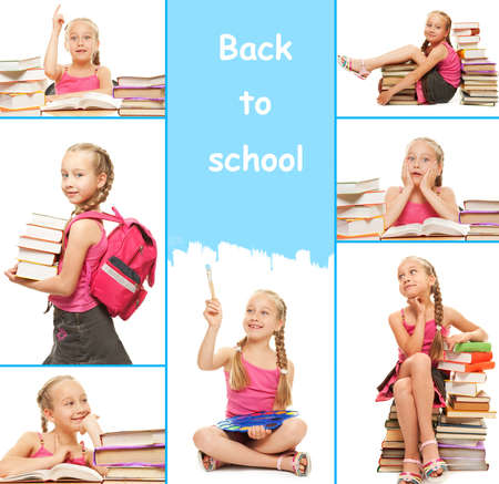 kids learning: Back to school collage