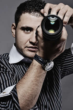 Photographer making a shot  photo