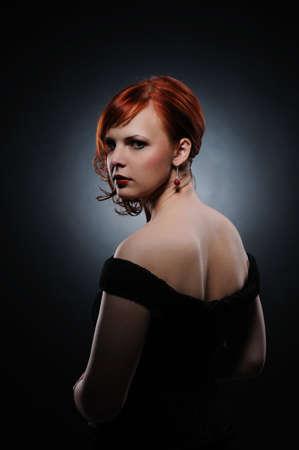 Beautiful redhead woman photo