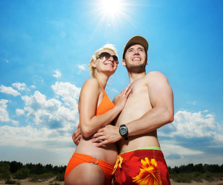 Young couple outdoors Stock Photo - 8131671