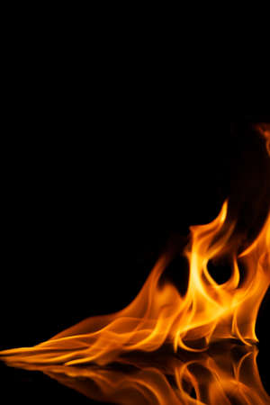 Beautiful stylish fire flames reflected in water Stock Photo - 8932602