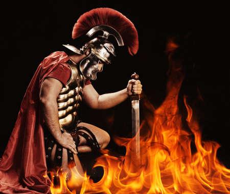 soldati romani: Ritratto di un soldato legionario Archivio Fotografico