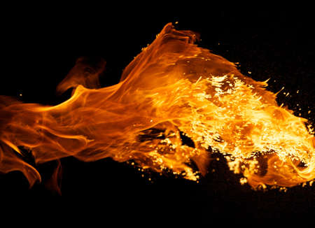 Fire explosion isolated on black background Stock Photo - 8932888