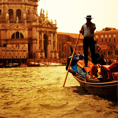Traditional Venice gandola ride  photo