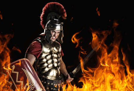 gladius: Angry legionary soldier in the fire