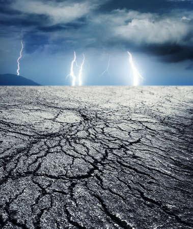 sequ�a: Tormenta en el desierto Foto de archivo