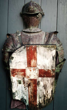 cross armed: Armour of the medieval knight