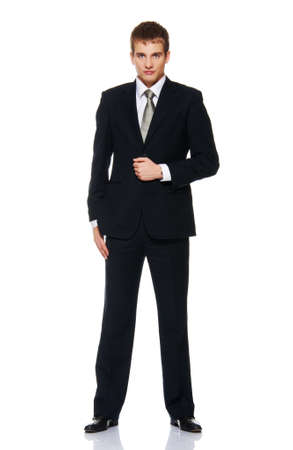 Young businessman isolated on white photo
