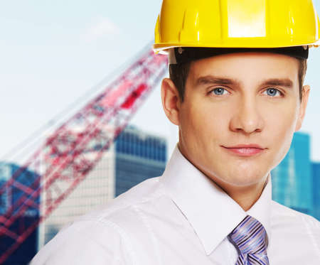 superintendent: Young handsome builder