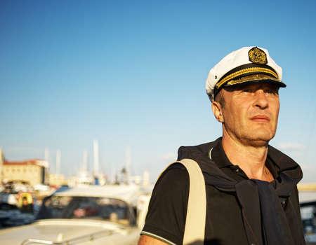 Middelbare leeftijd sailor