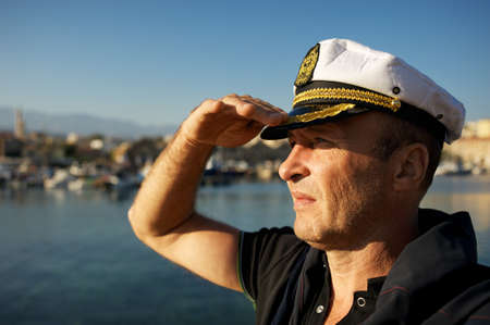 Middle-aged sailor photo