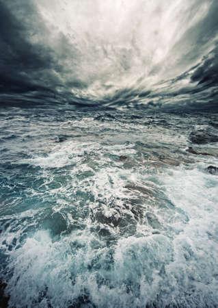 tsunami wave: Ocean storm