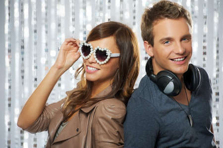 Stylish couple dancing in the nightclub Stock Photo - 9008468
