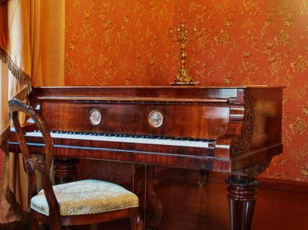 Luxury old piano photo