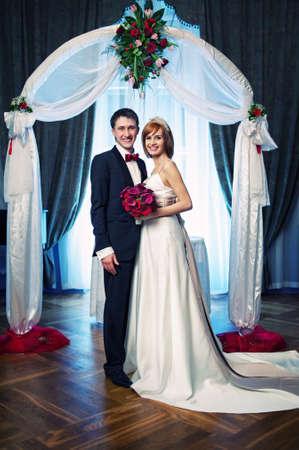 A couple on their wedding day photo