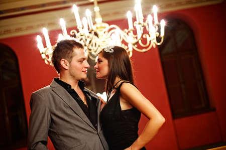 elegant party: Attractive couple