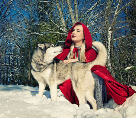 Red hood with a wolf Stock Photo - 9026424
