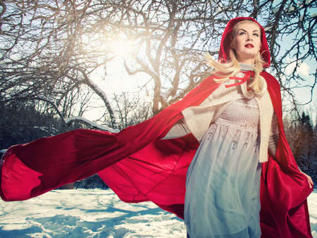 fairy tree: Running red hood